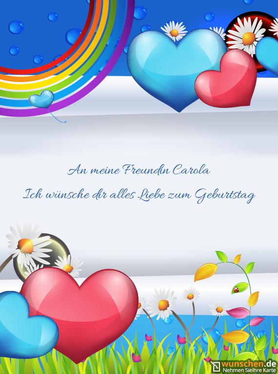 An Meine Freundin Carola Ich Wünsche Dir Alles Liebe Geburtstag Karte