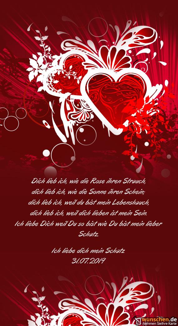 Ich liebe dich mein Schatz 31 - Fertig valentinstag karte