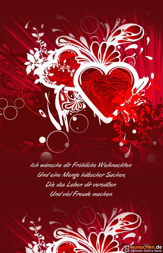 Frohe Weihnachten Ich Liebe Dich.Ich Wünsche Dir Fröhliche Weihnachten Fertig Valentinstag Karte