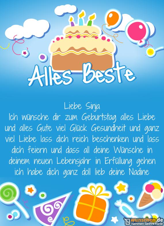 Ich wünsche dir zum Geburtstag alles Liebe und alles Gute