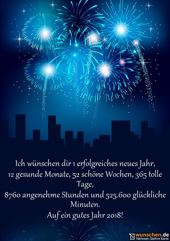 Ich wünschen dir 1 erfolgreiches neues Jahr - Fertig Karte zum Neue Jahr