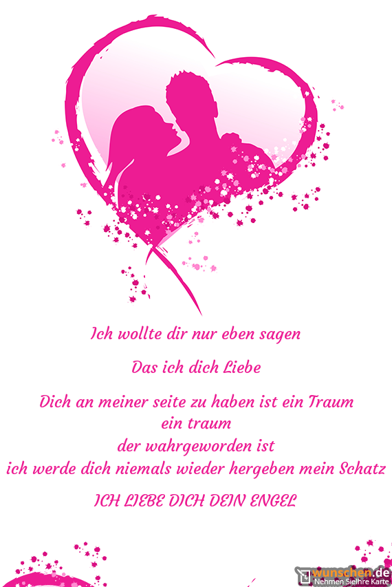 Ich Wollte Dir Nur Eben Sagen Fertig Valentinstag Karte