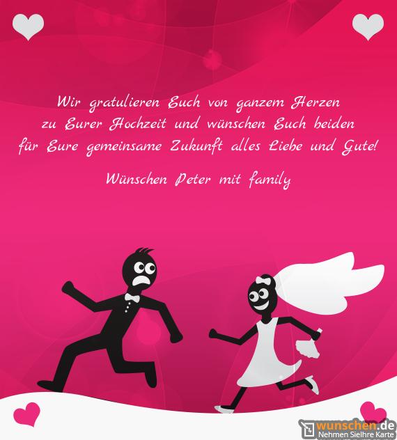 Hochzeit dir wir wünschen zur Glückwünsche zur