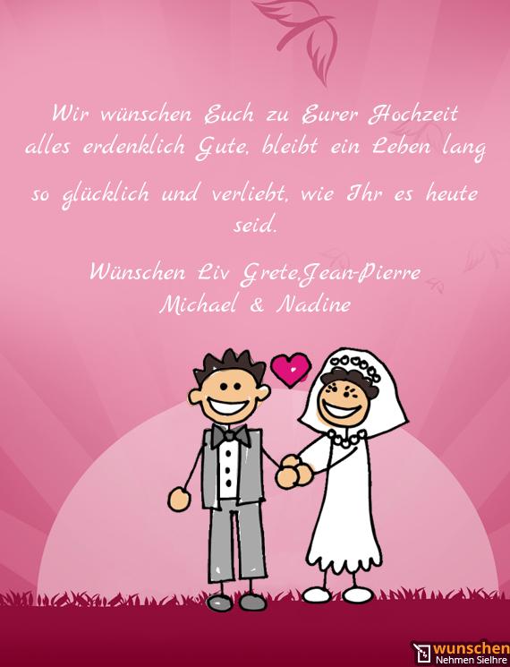 Wir wünschen Euch zu Eurer Hochzeit - Fertig hochzeit Karte