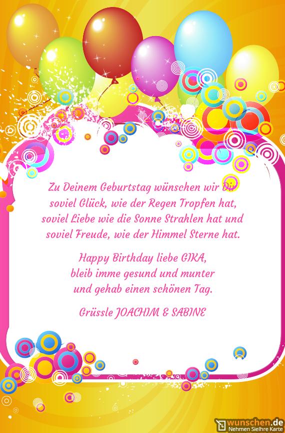 Zu Deinem Geburtstag Wünschen Wir Dir Geburtstag Karte